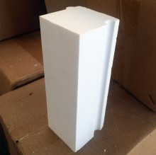 厂家直销高强度耐磨高铝陶瓷砖 陶瓷球磨机用内衬砖氧化铝砖