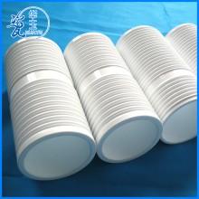 专业供应 螺纹耐磨陶瓷管 耐高温工业氧化铝砖陶瓷管加工定制
