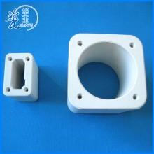 厂家热销 双孔氧化铝砖薄壁陶瓷结构件 耐高温陶瓷绝缘支持定制