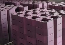 玻璃窑熔池用铬刚玉筒子砖